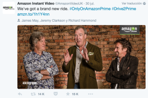 Los tres tenores de Top Gear fichados por Amazon
